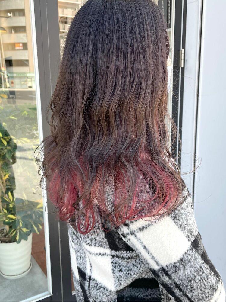 インナーカラー☆ピンク