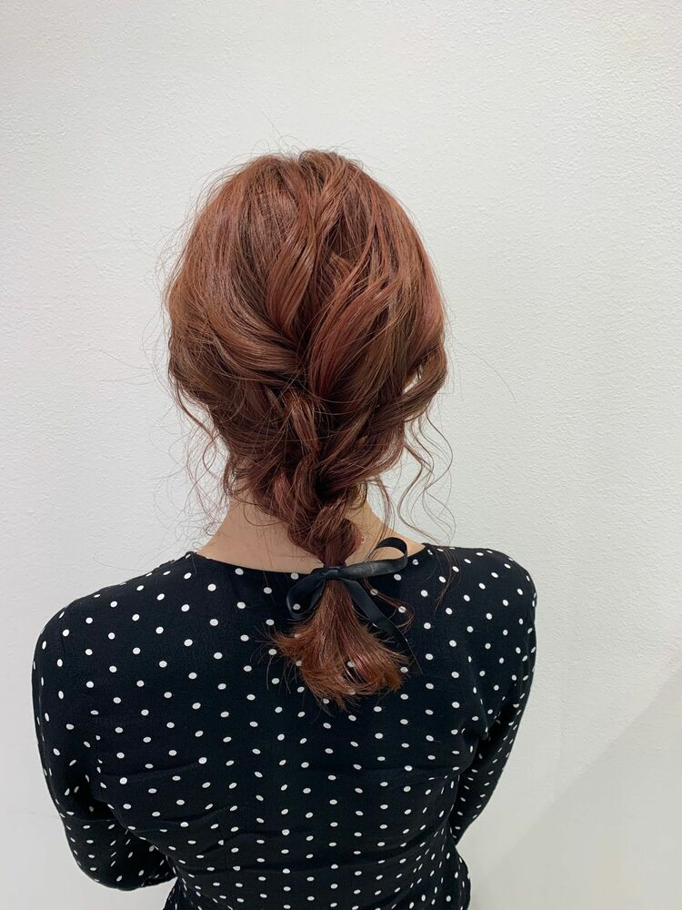 編みおろしヘアアレンジ