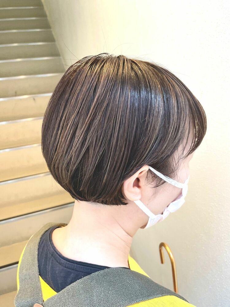 ショートヘア×立体感ハイライト✨