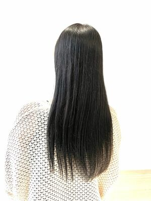黒髪×ストレートスタイル