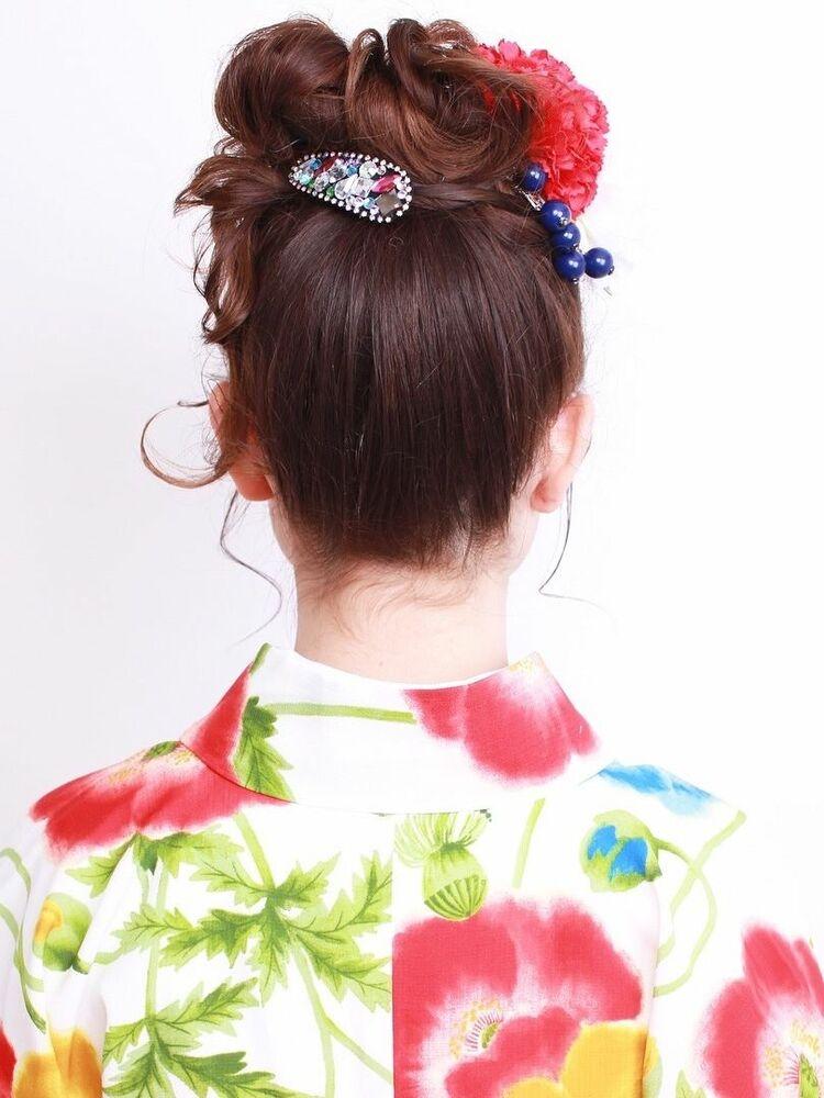 浴衣に似合うアレンジスタイル!トップで髪をまとめると、小顔効果が生まれます!文京区 茗荷谷駅