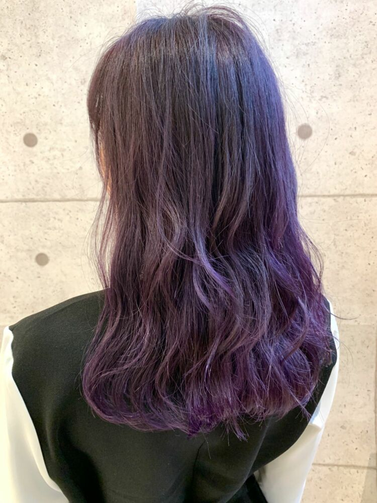 ☆KAJIWARA☆ブリーチ1回で作る色落ち最強ラベンダーグラデーション