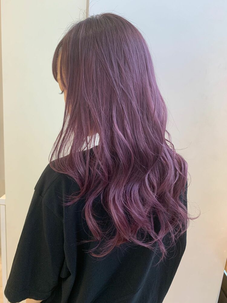 ☆KAJIWARA☆色落ちピンクベージュで可愛いパープルカラー