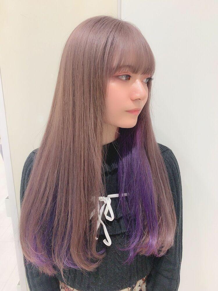☆KAJIWARA☆ミルクティー×インナーカラー