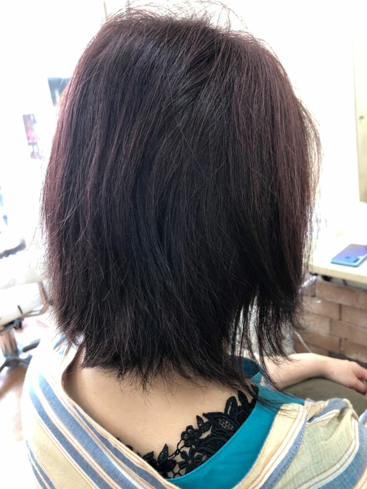 レッドブラウン縮毛矯正カラークセストパー!