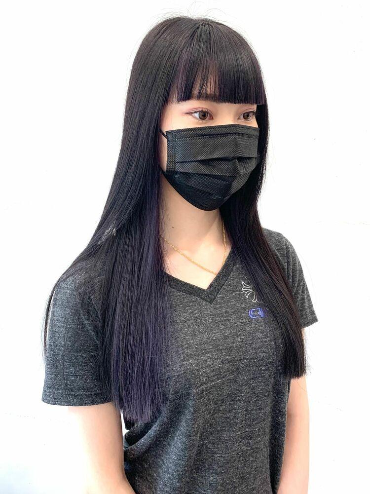 紫インナーカラー