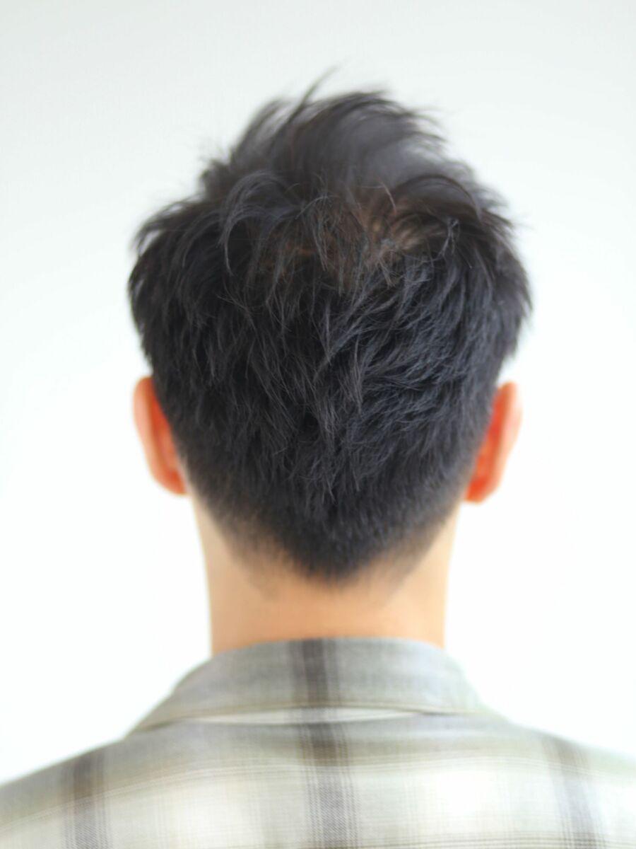 黒髪ワイルドショート