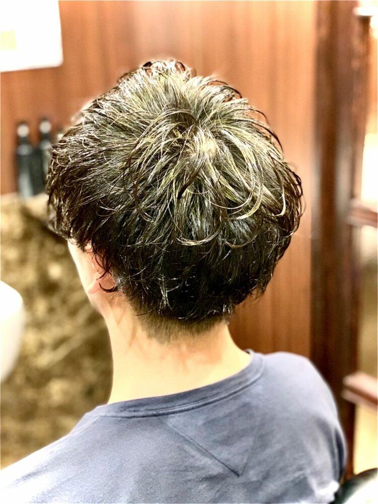 ふんわりパーマで毛流れスタイル