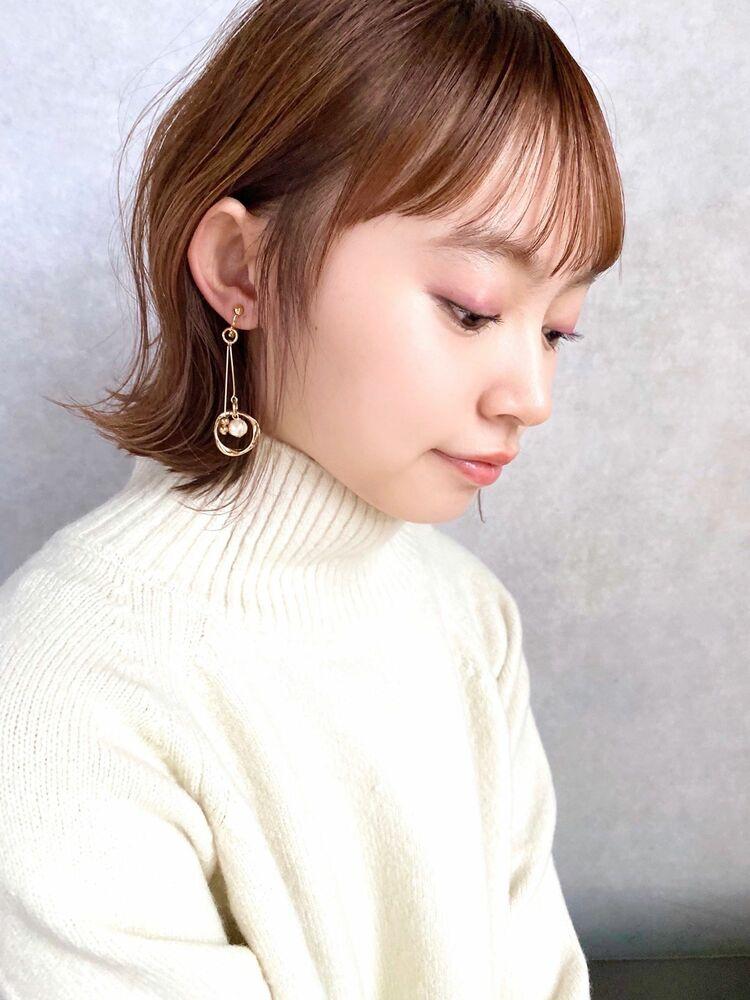 December 小顔 大人かわいい ブランジュ 外ハネボブ♪