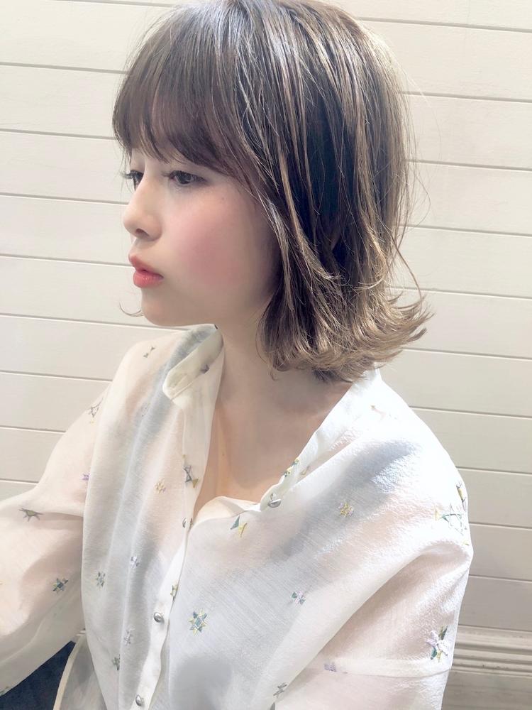 December グレージュ × 外ハネボブ♪