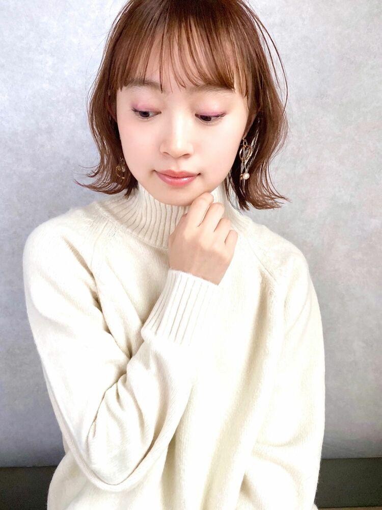 December 小顔 大人かわいい ブランジュ 外ハネボブ
