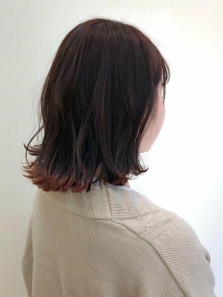 切りっぱなし × 裾カラー ♪