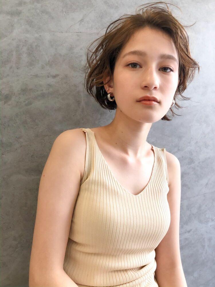 [H.STAND 渋谷]大人かわいい*アンニュイハンサムショート×シアベージュ