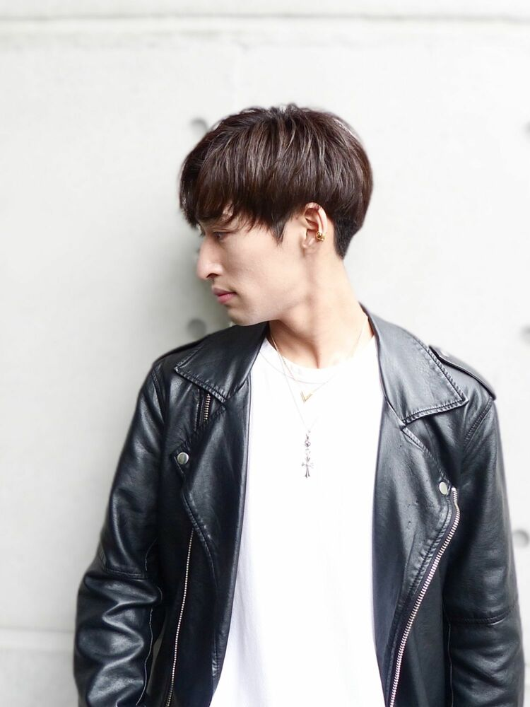 アップバング系韓国マッシュヘア
