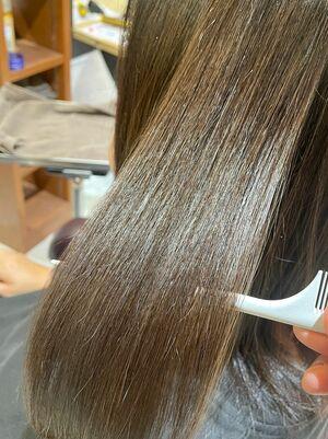 髪質改善ストレート!