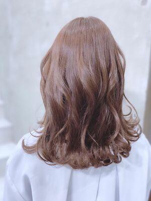 艶感✖️透明感モテ髪透明感ベージュ