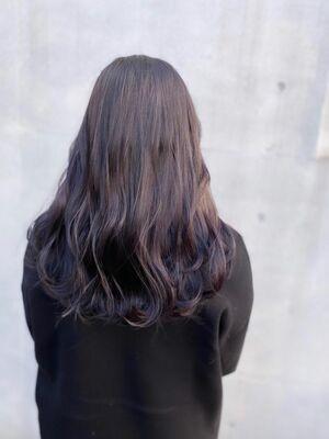 艶髪!ダークラベンダーアッシュカラー
