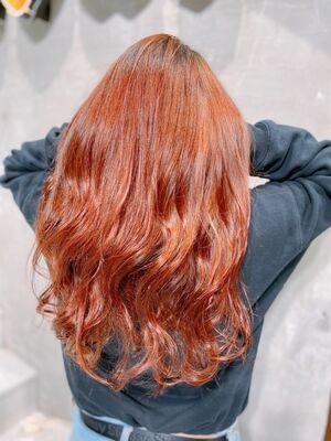外国人風赤髪カラー