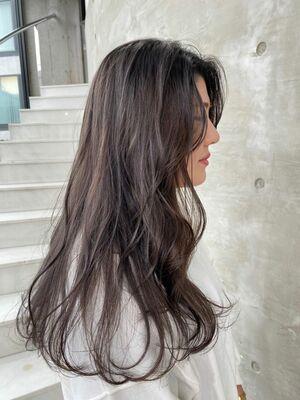 ダークアッシュ!艶髪ロングヘア