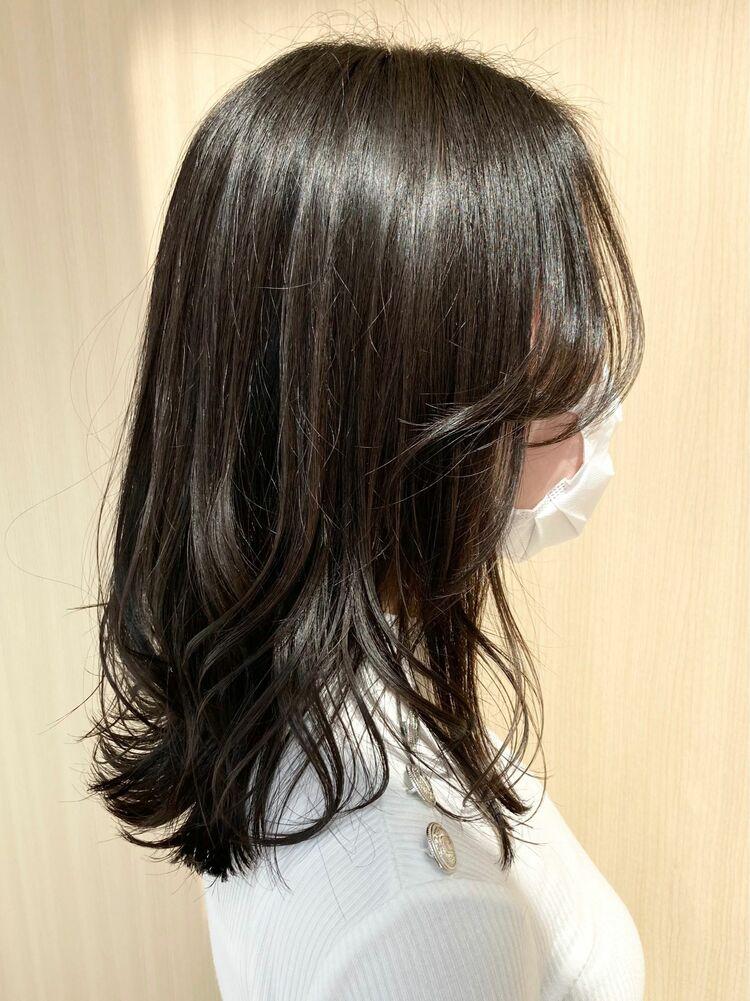 ミディアム×黒髪