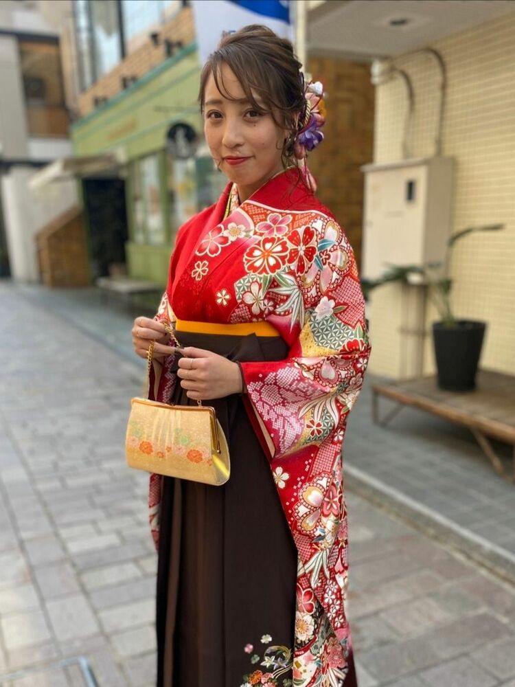 編みおろし卒業式ヘアアレンジ