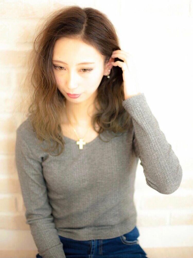 Richer hairsalon リシェル渋谷-勝又舞夏 カーキグレージュグラデーション
