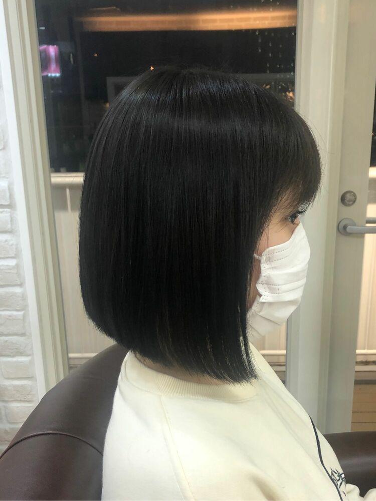 Richer hairsalon リシェル渋谷-勝又舞夏 前下がりボブ