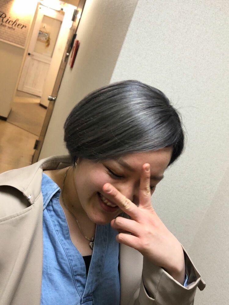 Richer hairsalon リシェル渋谷-勝又舞夏 グレーパール