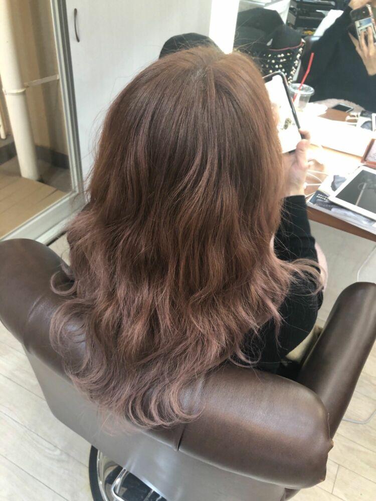 Richer hairsalon リシェル渋谷-勝又舞夏 ブリーチなしのペールピンク
