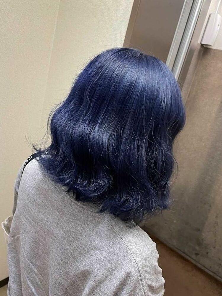 Richer hairsalon リシェル渋谷-勝又舞夏 ネイビーブルー