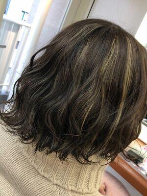 Richer hairsalon リシェル渋谷-勝又舞夏︎︎  グレージュ×コントラストハイライト