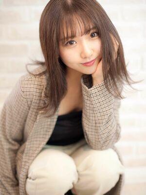 Richer hairsalon リシェル渋谷-勝又舞夏 外ハネミディ×シースルーバング