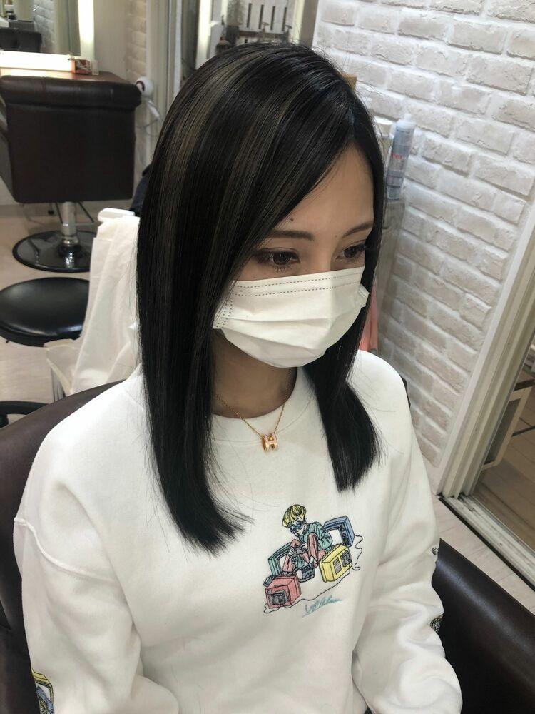 Richer hairsalon リシェル渋谷-勝又舞夏 グレーハイライト
