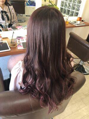 Richer hairsalon リシェル渋谷-勝又舞夏 ブリーチなしのラベンダーピンク