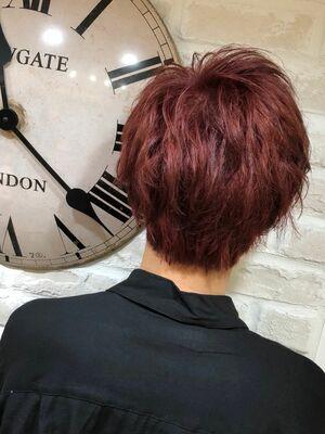 Richer hairsalon リシェル渋谷-勝又舞夏 レッドヘア