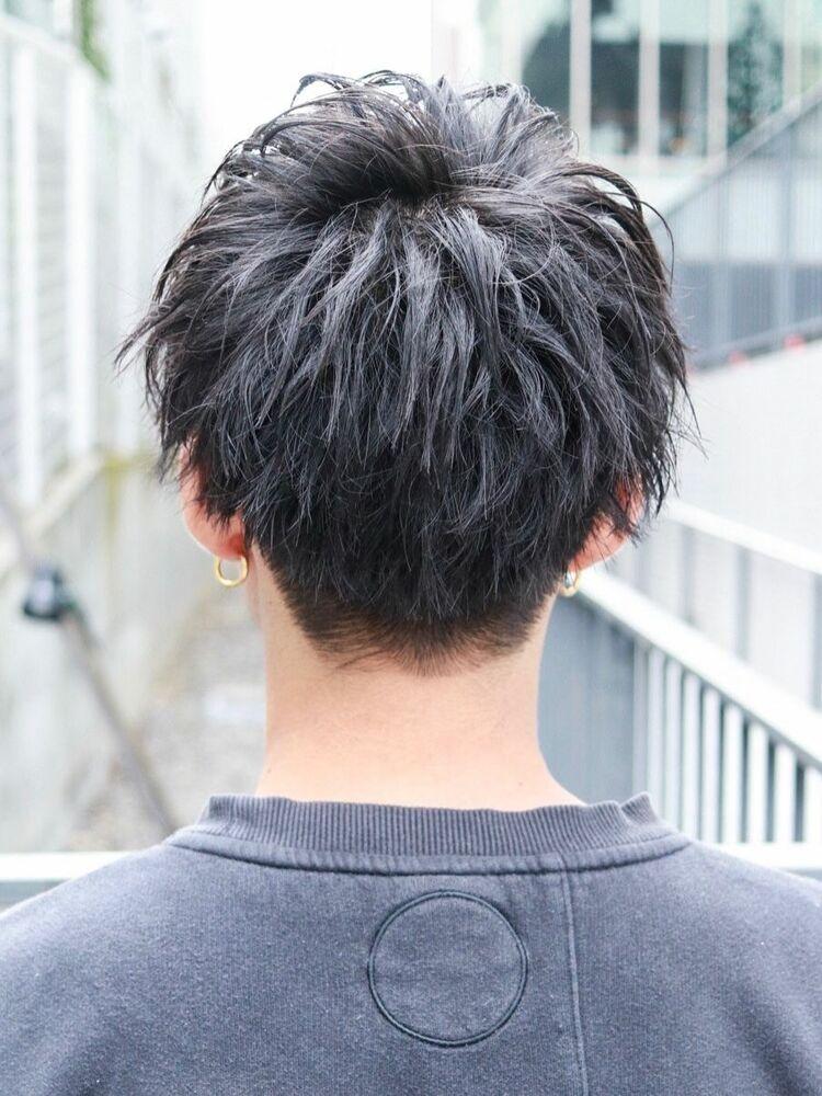 キンプリ 永瀬廉風 黒髪ゆるスパイラルマッシュショート