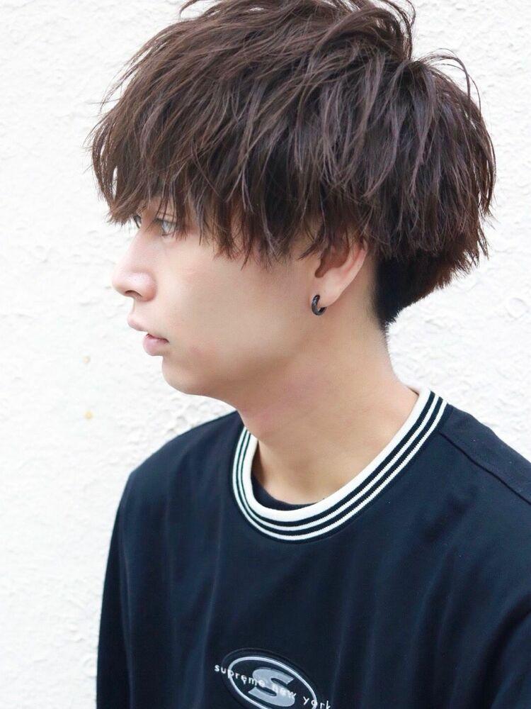 千葉雄大風 黒髪マッシュショート/ニュアンス&スパイラルパーマミックス