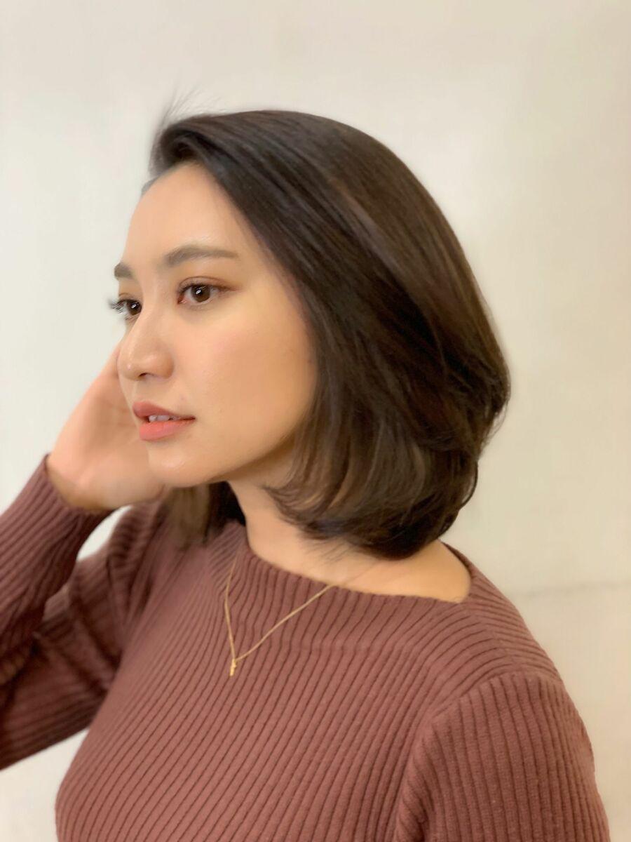 """潤い""""艶美髪""""の柔らか質感ロブ"""
