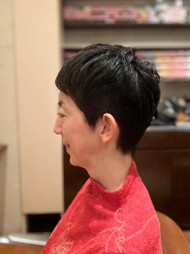 40代50代60代髪型ベリーショート