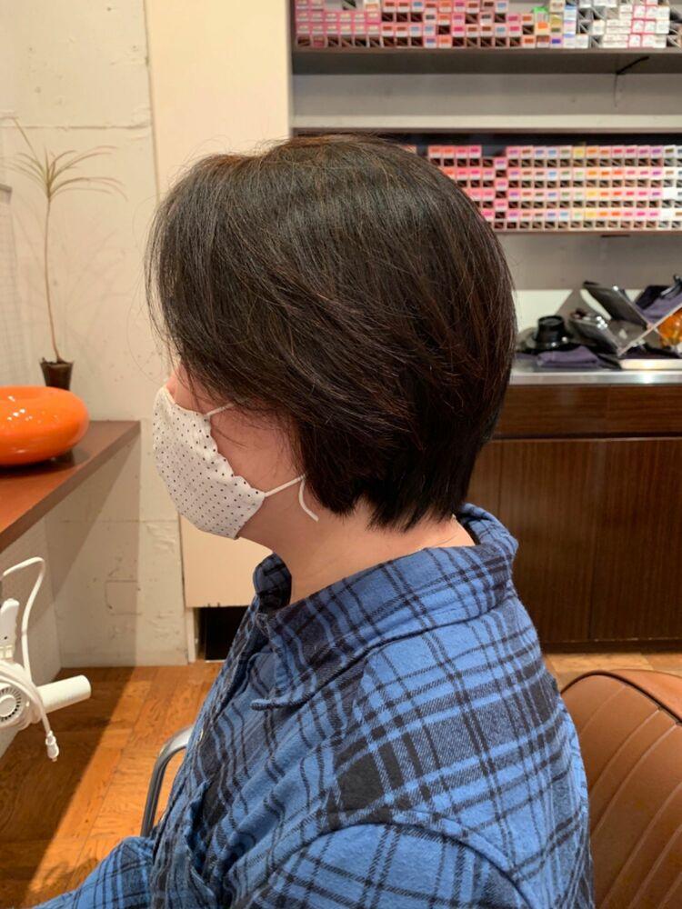 40代50代60代髪型ショートボブ