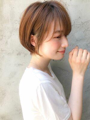 横顔美人な小顔ショート&ダメージレスな透明感カラー