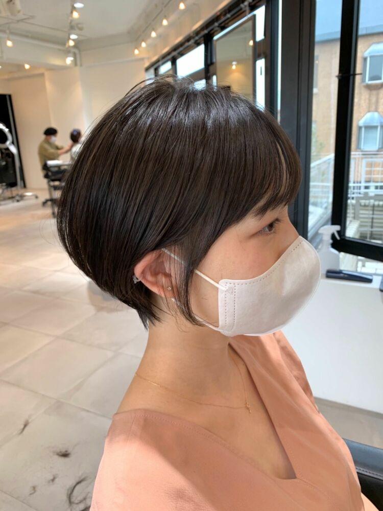 sheta表参道 堅田祐介◎カットが上手い◎直毛さんでもこの丸み、お手入れも簡単なショートヘア