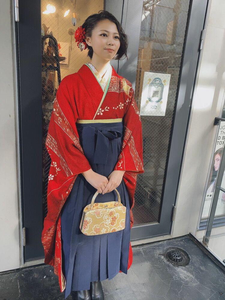卒業式袴スタイル