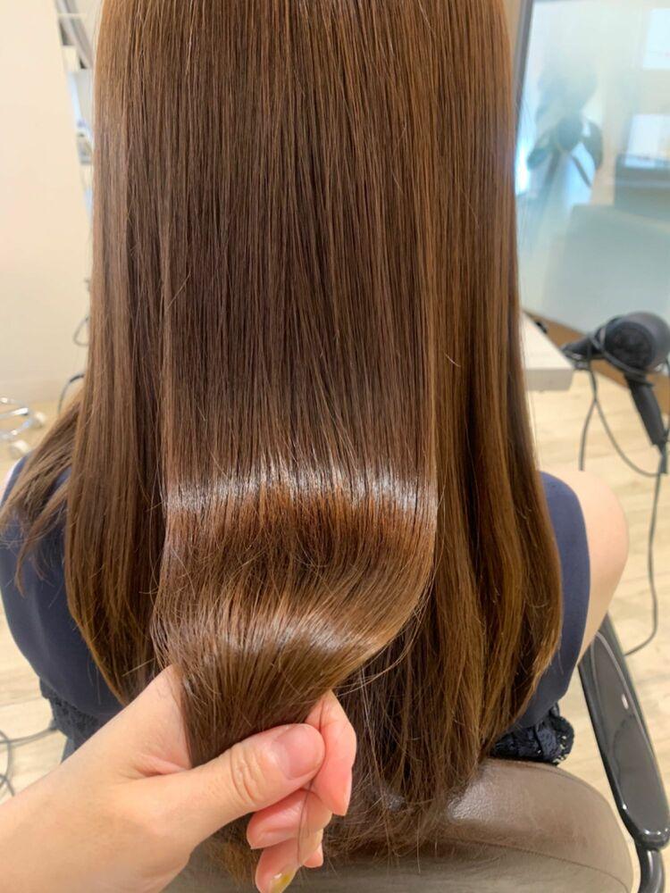 艶髪髪質改善ナチュラルストレート酸熱トリートメント