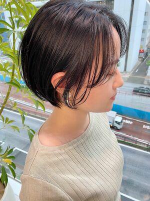 銀座/VIE/つばさ☆カットが上手い◎黒髪でもふんわり軽いショート