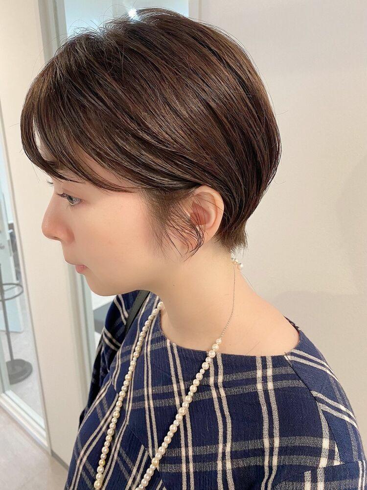 銀座/VIE/つばさ☆カットが上手い◎スッキリ耳かけショートヘア