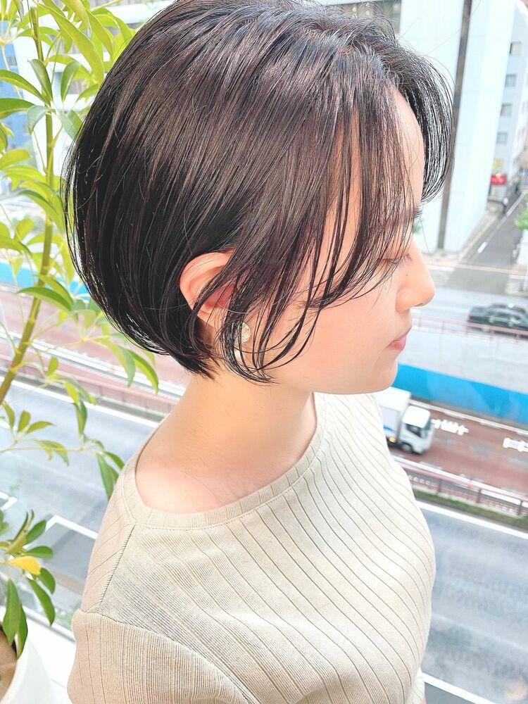 表参道・青山/VIE/つばさ☆カットが上手い◎黒髪でもふんわり軽いショートボブ
