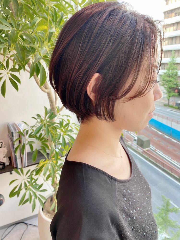 銀座/VIE/つばさ☆カットが上手い◎ふんわりまとまるショートボブ