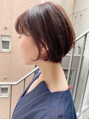 銀座/VIE/つばさ☆カットが上手い◎シルエットがキレイなショートボブ