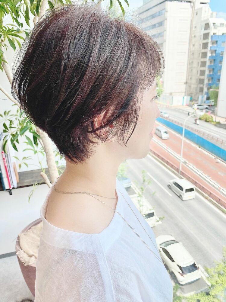 銀座/VIE/つばさ☆カットが上手い◎後頭部ふんわり大人女性ショート